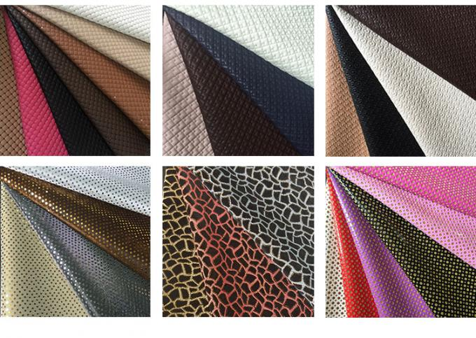 Shiny  Leather Upholstery Fabric Abrasion Resistant Anti Mildew Waterproof