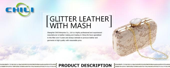 Seamlessly Printed Faux Leather Fabric , Stretch Faux Leather Fabric Composite Material