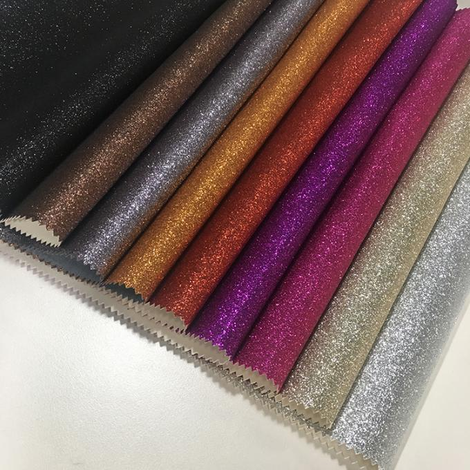 Anti Mildew Glitter Leather Fabric 137cm*10m Per Roll Decorative Purpose