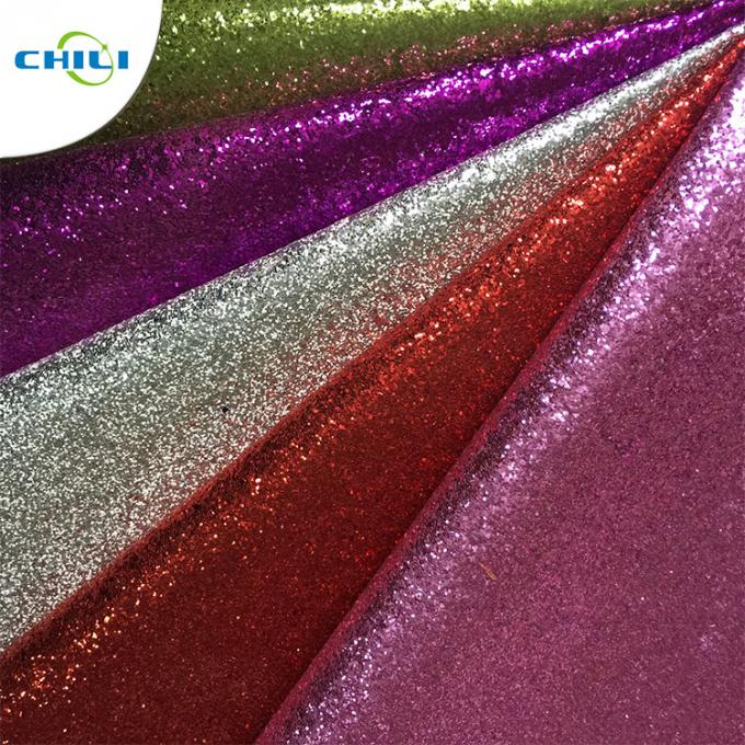 Pu Synthetic Glitter Leather Fabric Hair Ornament Applied 0.8±0.15mm Thickness