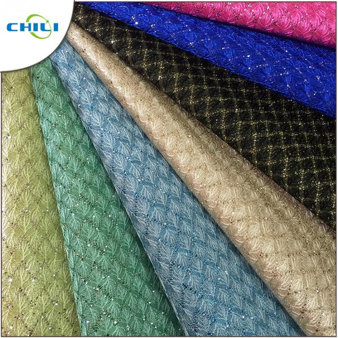 New Fashion Artificial Glitter Pu Leather Fabric For Wall Decoration
