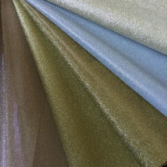 Synthetic Zarina Sparkle Glitter Fabric Solid Color  7 Mixed Color Multi Application