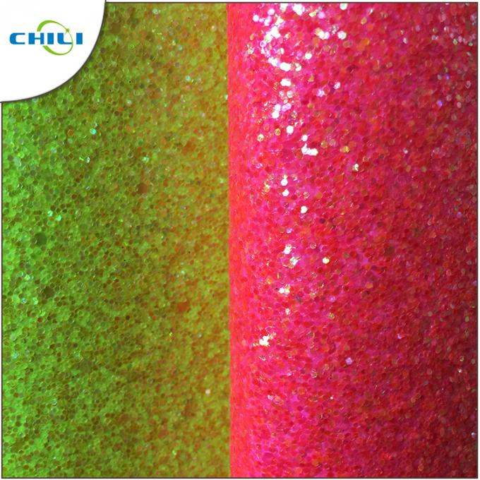 Shoe Lining Glitter Leather Fabric Long Durability 0.8 Pu 0.9±0.15mm Thick