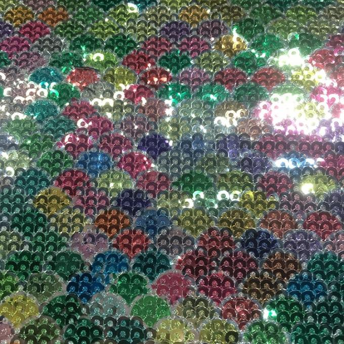 Economical Stretch Sequin Fabric  Rolls Sheets Customizable Size Shape Anti Scratch