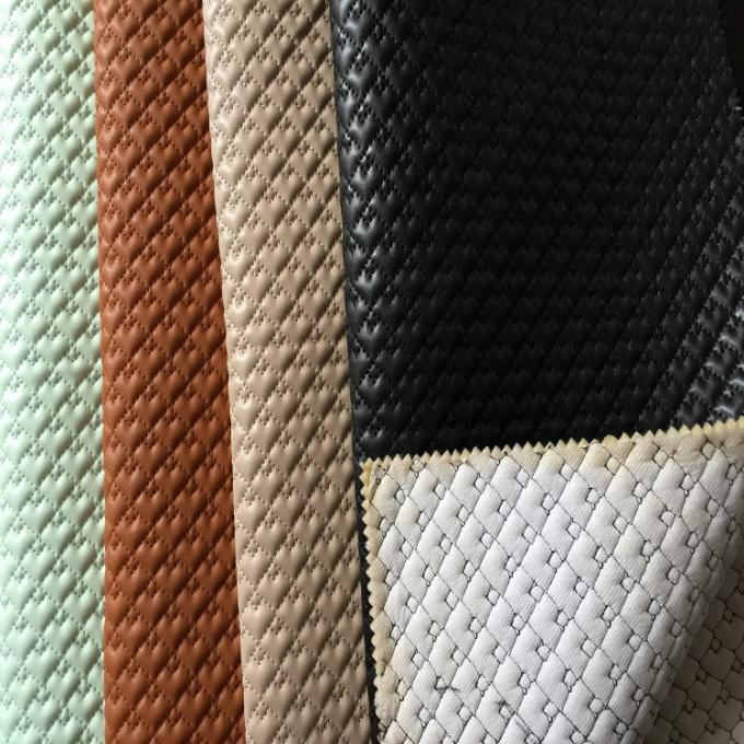Patent Quilted Faux Leather Fabric Multi Color Abrasion Resistant Durable