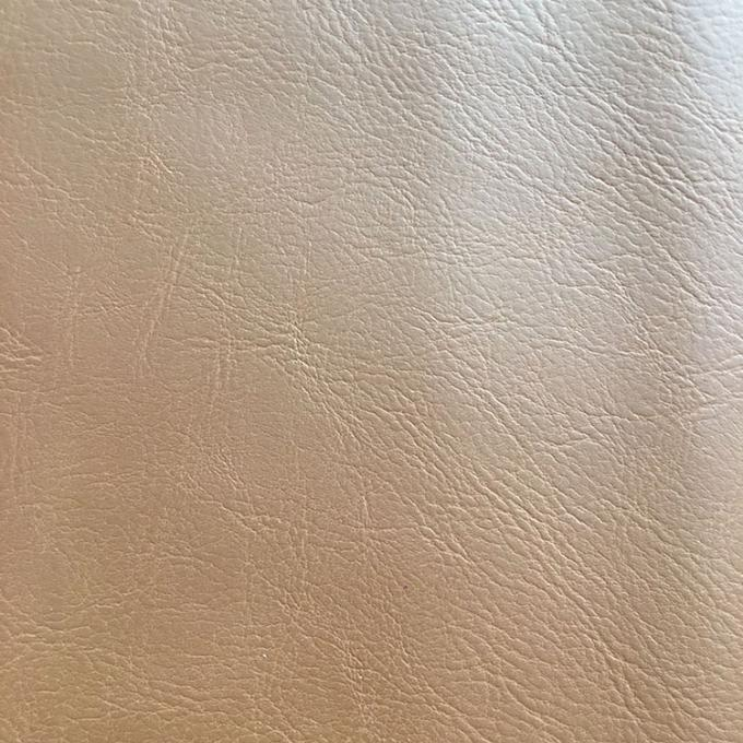 Solid Color PU Leather Fabric Waterproof Woven Backing Design Smooth