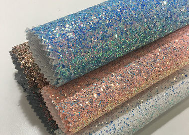 China Grade 3 Pu Synthetic Glitter Fabric Wallpaper Shiny Single Side Precut Dark factory