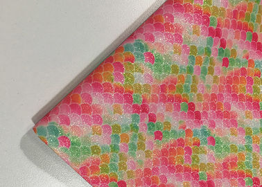 Colorful Printed Faux Leather Fabric SGS Certified 0.6±0.1mm Thickness