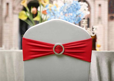 Round Chair Covers And Sashes Custom Color Cotton Reusable Polyester  Material
