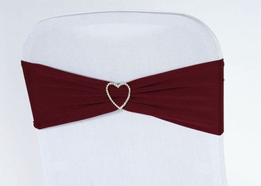 China Heart Shaped Wedding Chair Sashes , Fitted Chair Covers Custom Design factory