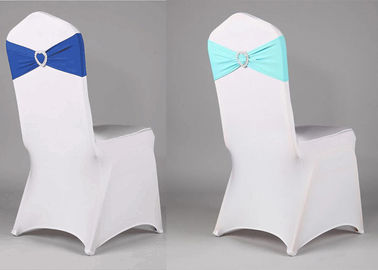 China Hotel Folding Chair Covers , Wedding Chair Bows Sleeves Banquet Application factory