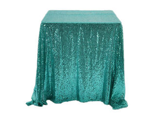 90*156 Inch Glitter Sequin Tablecloth Famiy Wedding Decoration Applied