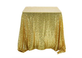 China Square Silver Sequin Tablecloth , Blush Pink Tablecloth Multi Color For Celebration factory