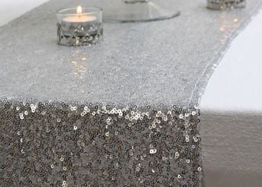 Sliver Gold Pretty Beautiful Fabric Table Runner 12*118 Inch Glitter Sequin Type