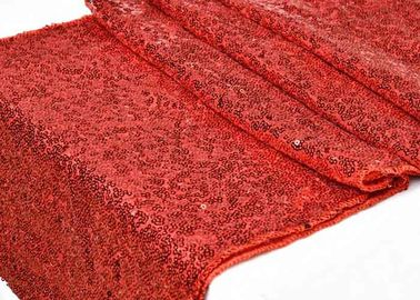 Red Satin Christmas Table Runner Living Room GS Certification Waterproof