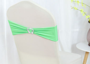China Fabric Turquoise White Chair Covers Ribbons Easy Cleaning For Event Decor factory