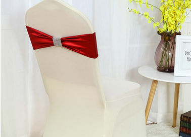 China Beautiful Wedding Chair Covers , Chair Cover Sashes Stretch Type Easy Fit factory