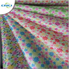China Multi Color Printed Faux Leather Fabric Chunky Shiny Wear Resistant factory