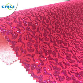 China Leather Factory Supplier Pu Glitter Leather fabric For wallpaper factory