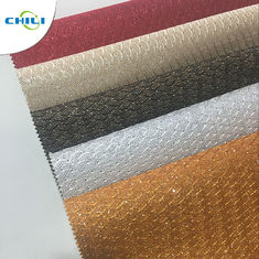 China Glitter leather with mesh and new ZARINA factory