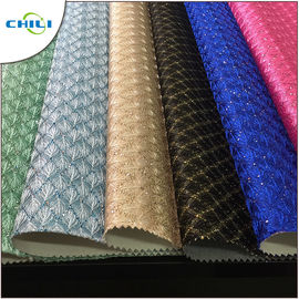China New Fashion Artificial Glitter Pu Leather Fabric For Wall Decoration supplier