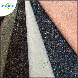 China Grade 3 Glitter Leather Fabric Style Mixed Attractive High Brightness factory