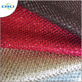 China Shoes Application Glitter Leather Fabric Artificial Custom Printed factory