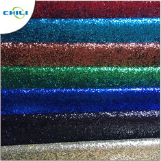 Eco Friendly Glitter Leather Fabric Elastic Long Durability Orderless No Harmful