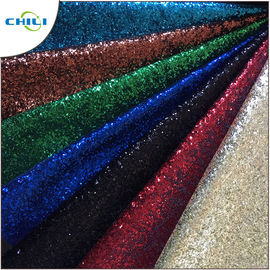 China Garment Glitter Leather Fabric Customized Color Size Elegant For Handbags factory