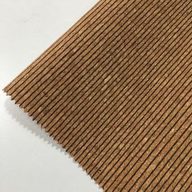China OEM Cork Leather Fabric Hydrolysis Resistant Smooth Tough Flexibility Woven Knitted factory