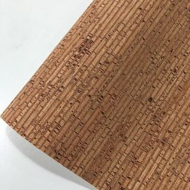 China Easy Cleaning Thin Cork Sheet , Patterned Leather Fabric Colorful Tear Resistant factory