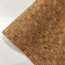 Flocked Feature Cork Leather Fabric Geometry Synthetic Various Backing Fabric