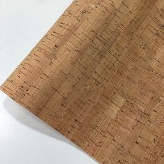 China Slub Veins Cork Leather Fabric , Thin Cork Roll Non Smell Anti Microbial factory