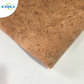 China Non Woven Cork Leather Fabric Durable Contemporary Printed Natural Color factory