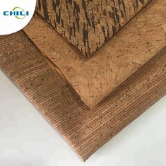 China Wooden Pu Pvc Leather Fabric , Etsy Cork Fabric Abrasion Resistant Easy Cleaning factory