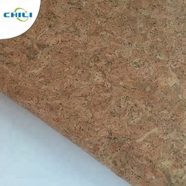 Wooden Pu Pvc Leather Fabric , Etsy Cork Fabric Abrasion Resistant Easy Cleaning