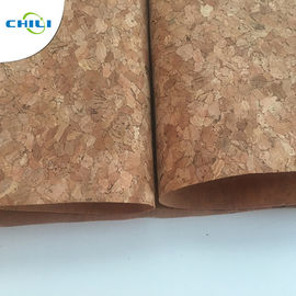 China 53'' Cork Leather Fabric Customized Color 0.4±0.05mm Thick For Shoes Application factory