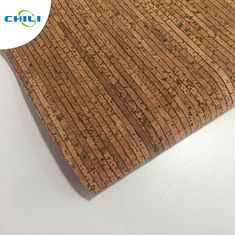 China 0.4±0.05mm Thick Thin Cork Roll , Wine Cork Fabric For Shoes Bags Wallpaper factory