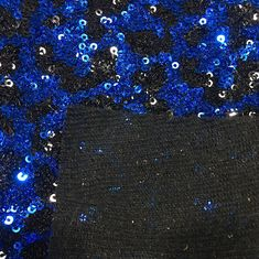 Attractive Glitter Sequin Fabric Thick  Polyester Material Elegant Design
