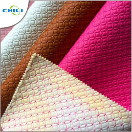 Leatherette Quilted Vinyl Upholstery Fabric Recycled Non Harmful Material