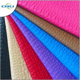 Clothes Quilted Pleather Fabric Sheets Lightweight Commercial Stitched