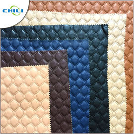 Eco Friendly Faux Leather Upholstery Fabric Raw Material Knitted Professional