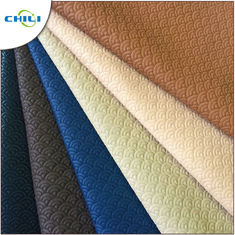 China Bag Making Quilted Leather Material , Faux Leather Sheets Woven Textured factory