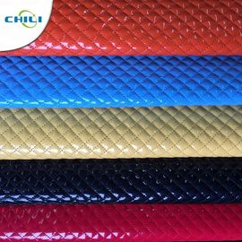 China Shoes Garment Quilted Leather Fabric , Cotton Quilting Fabric Smooth Surface factory
