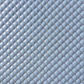 Shiny PU Quilted Leather Fabric Fashionable Multi Application Custom Thickness