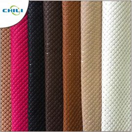 Thicker Padded Faux Leather Fabric Multi Layers Anti Mildew Elastic Mesh