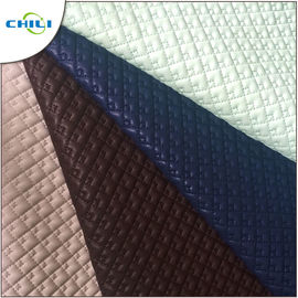 China Patent Quilted Faux Leather Fabric Multi Color Abrasion Resistant Durable supplier