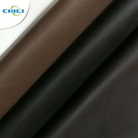 China Brown  Black Vegan Leather Fabric Metallic Attrective Look Elegant Design factory