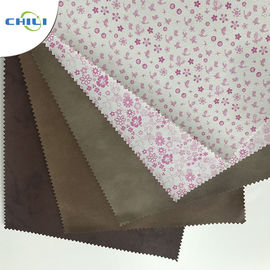 China Embossed  PU Leather Fabric Advanced Technology Thick  Polyestermaterial factory