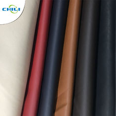 China Solid Color PU Leather Fabric Waterproof Woven Backing Design Smooth factory